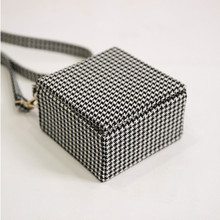 New Houndstooth Small Box bag Shoulder Diagonal Small Square Handbag
