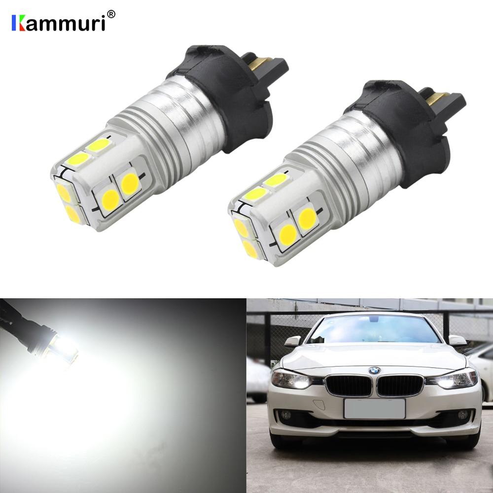 (2) Ксеноновые белые светодиодные лампы PW24W без ошибок для BMW F30 3 серии Volkswagen VW CC SS MK7 Golf GTI светодиодный дневные ходовые огни