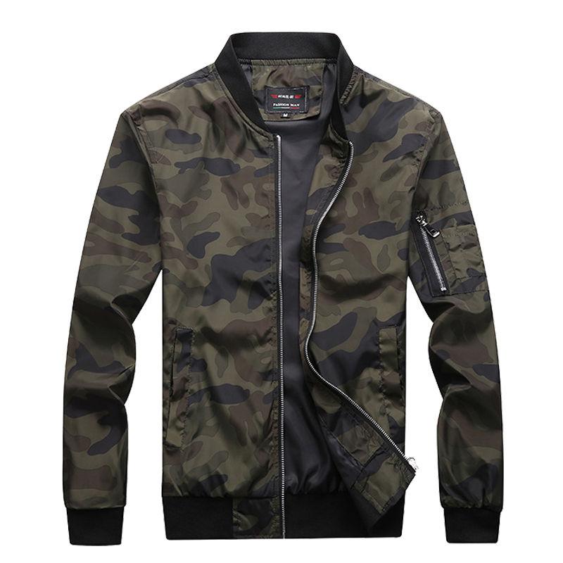 M-7XL 2020 New Autumn Men's Camouflage Jackets Male Coats Camo Bomber Jacket Mens Brand Clothing Outwear Plus Size M-7XL