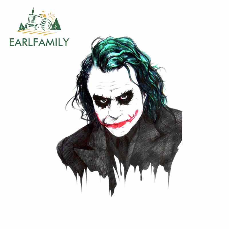 EARLFAMILY 13cm X 10.1cm For Joker By David Wong Fine Decal Suitable For VAN SUV Sunscreen Car Bumper Window Graffiti Stickers