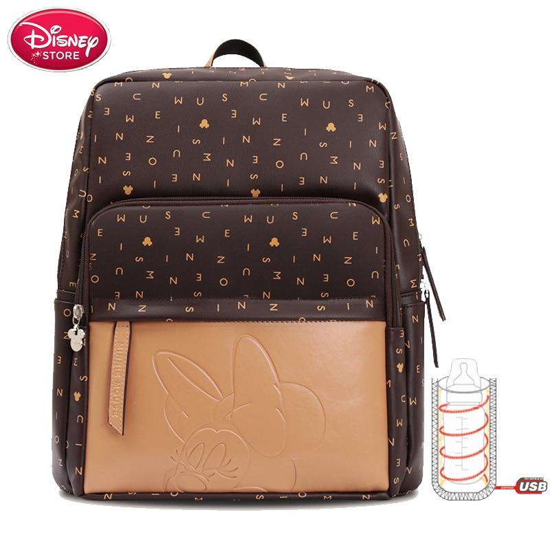 Sacs à couches Disney pour bébé | Grand sac d'isolation de bouteille de maman maternelle, sac à dos de voyage de styliste pour soins de bébé