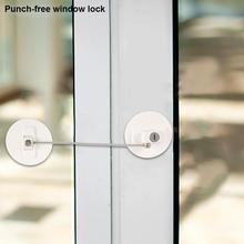 Zabezpieczenie przed dziećmi lodówka blokada okna ochrona okien dzieci drzwi blokujące bez konieczności ochrony przed uderzeniami tanie tanio Metal Drzwi szafy Cabinet Locks Straps Gabinet blokada Other 4-6 M 7-9 M 10-12 M 13-18 M 19-24 M 2-3Y 4-6Y 7-9Y super glue connection