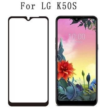 Перейти на Алиэкспресс и купить 2 шт закаленное стекло для LG K50S K40S Q70 Airsto 4 полная клеевая Защитная пленка для LG G8X ThinQ полное покрытие защитное стекло