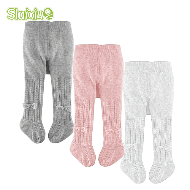 Toddler Kids Baby Girl Cotton Warm Tights Bow Stockings Pants Trousers Pantyhose