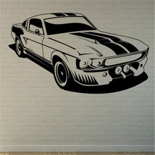 Grande taille voiture autocollant mural Mustang Shelby Muscle voiture Mur Art autocollant autocollant citation décalcomanies salon décoration de la maison décor Mur