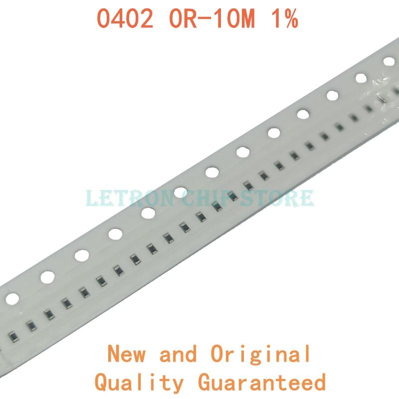 500 шт. 1% 0402 SMD резистор 0R ~ 10M 1/16 Вт, для детей 0, 1, 10 100 150 220 330 Ом 1K 2,2 K 4,7 K 10K 100K 0R 1R 10R 100R 150R 220R 330R-1 шт. M 10M