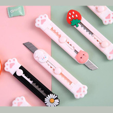 40pcs/lot Fruit Animal Cat Paw Portable Utility Knife Cute Paper Cutter Cutting Razor Blade Office school supply Stationery gift