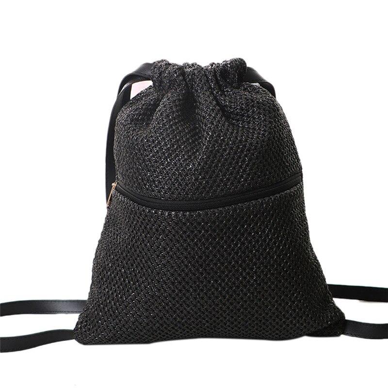 2020 Fashion Straw Bag Hand-Woven Shoulder Bag Seaside Vacation Designer Brand Women Drawstring Bags 2020
