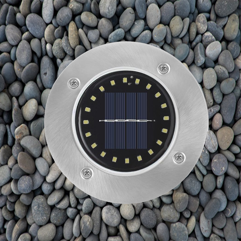 1pcs Outdoor Solar Deck Lights 12LED 16LED 20Led Buried Garden Lights Decorative For Outdoor Lighting Walkway Lawn Pathway Yard