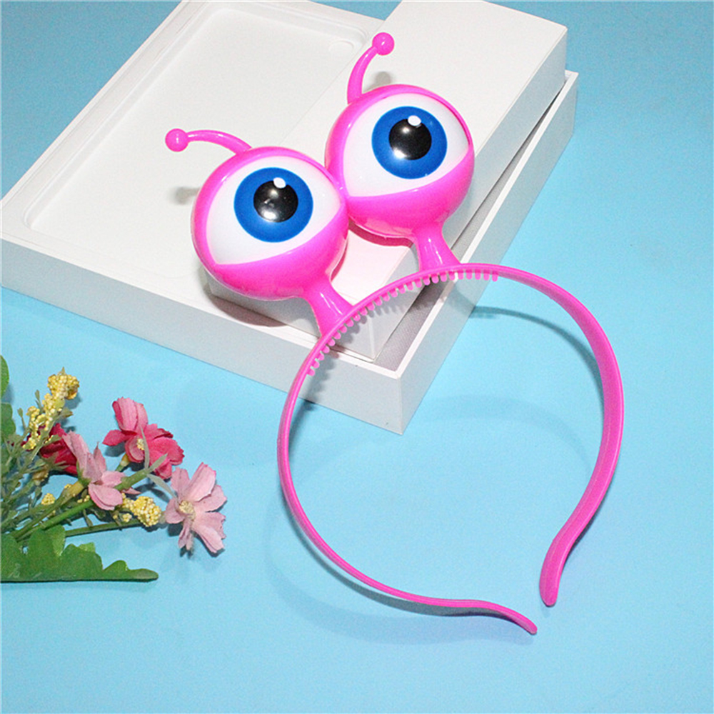 Christmas Vocal Concert Supplies Kids LED Light Luminous Headband Halloween Aliens Eyes Head Hair Hoop Band Party Decoration Toy