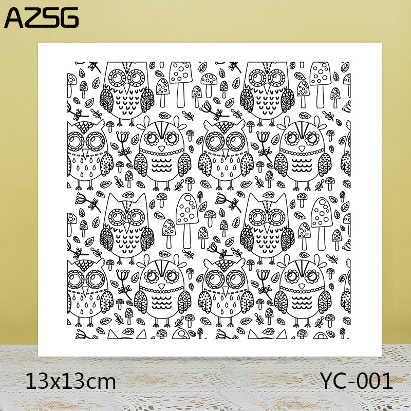 ZhuoAng A group of owls Clear Stamps For DIY Scrapbooking/Card Making Decorative Silicon Stamp Crafts