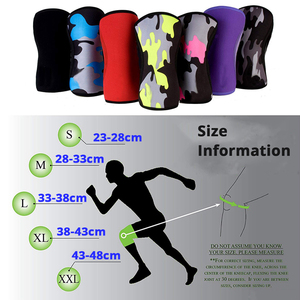 Image 3 - 7mm Neoprene Weightlifting Sport Knee Pads Compression Powerlifting Squat Gym Training Knee Support Protector Basketball Kneepad