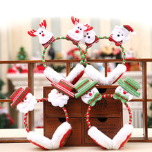 New Christmas Earmuffs For Adult and Children Santa Claus Snowman Bear Deer Headbands X-mas Party Winter Warm Earmuffs Gift(China)
