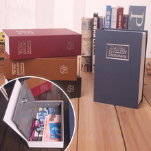 Fashion Password Style Paper Book Safe Deposit Box Creative Piggy Bank Simulation Cash Money Jewellery Storage Box Organizer
