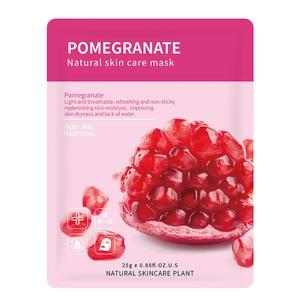 14 Style Plant Fruit Face Mask Pomegranate Aloe Vera Blueberry Cucumber Olive Honey Orange Rose Bamboo Tea Facial Skin Care