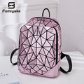 Светящийся рюкзак правильной геометрической формы  с блестками  лазерный женский рюкзак для ноутбука  сумка для книг  школьный повседневны...