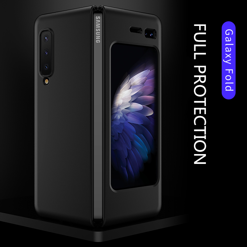 """360 Full Protection Case For Samsung galaxy Fold Case Hard PC Slim Matte Back Protective Cover For Galaxy Fold 7.3"""" Shockproof