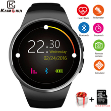 Kaimorui KW18 Smart Watch Men Bluetooth Passometer Heart Rate Sport Watch Phone TF SIM Card Smartwatch For Xiaomi Android  IOS