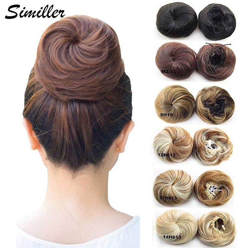 Волосы для наращивания Similler Pony Tail, резинка для волос, эластичные волнистые кудрявые синтетические шиньоны для волос Bun Chignon