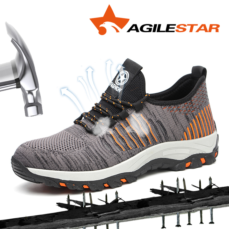 Outdoors Shock Absorber Anti Piercing Anti-crush Puncture Proof Super Light Weight Safty Shoes Working Sport Safety Boots(China)