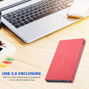 USB 3.0 to SATA Mobile Enclosure 2.5 inch HDD SSD External Case Hard Disk Box for Household Computer Accessories