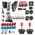 Juego Arcde DIY Jamma Kit completo 3D Pandora XII 3188 en 1 con 53 Uds juegos 3D Joystick LED para Arcade juego de máquina de videojuegos