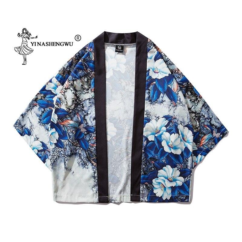 Women Print Yukata Kimonos Japanese Kimono Traditional Cardigan Men Cardigan Shirts Coat Kimono Cosplay Costumes Asian Clothes