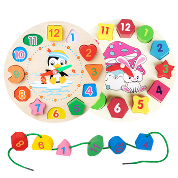 Baby Educational Toys Wooden Toys Montessori Early Learning Baby Birthday Christmas New Year Gift Toys for Children GYH 2