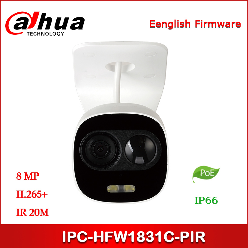 Dahua IP Camera IPC-HFW1831C-PIR 8MP WDR IR Mini Bullet Network Camera Support POE
