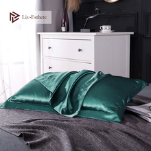 Liv-Esthete New Free Shipping Multicolor 100% Nature Stain Silk Luxury Pillowcase Pillow Case For Healthy Standard Women Man
