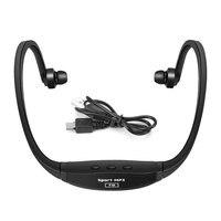 Universal esporte mp3 player música portátil correndo fone de ouvido fone com slot para cartão tf mp3 music player