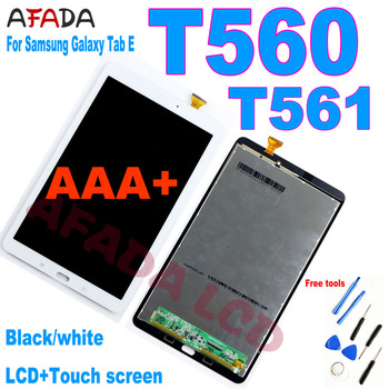 AAA+ New 9.6 For Samsung Galaxy Tab E SM-T560 T560 T561 SM-T561 LCD Display Touch Screen Digitizer Panel Tablet Assembly Parts tablet lcd assembly for samsung galaxy tab a 9 7 sm p550 p550 display with touch screen digitizer panel lcd combo replacement