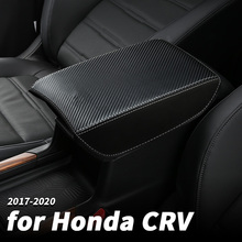 For Honda CRV CR-V 2017-2020 Central Armrest Case Cover Car Interior Box Leather Decoration Accessories