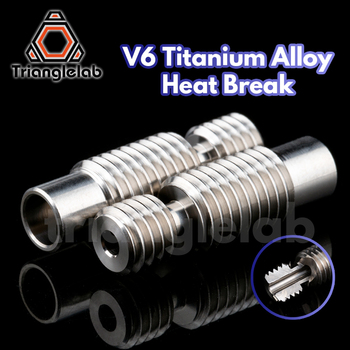 trianglelab NEW high quality GRADE5 V6 titanium alloy heat break for E3D V6 HOTEND heater block 1.75MM Filament Smooth