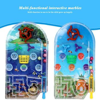 Pinball Desktop Maze Game Cartoon Machine Children Gifts Peer Interaction Labyrinth Beads Ejection Educational Toys Random image