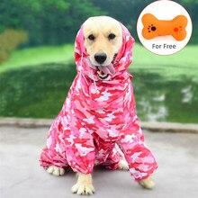 Chubasquero para perro mascota grande impermeable, ropa de lluvia, mono, trajes para perros medianos pequeños, Golden Retriever, ropa para perros abrigo para exteriores