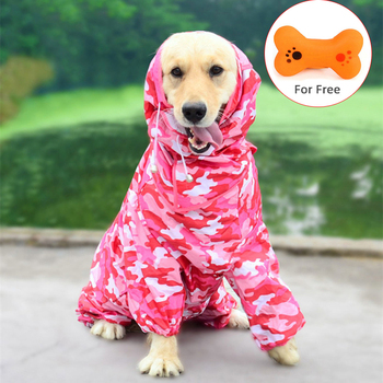Waterproof Large Pet Dog Raincoat Rain Clothes Jumpsuit Outfits Big Medium Small Dogs Golden Retriever Outdoor Pet Clothing Coat