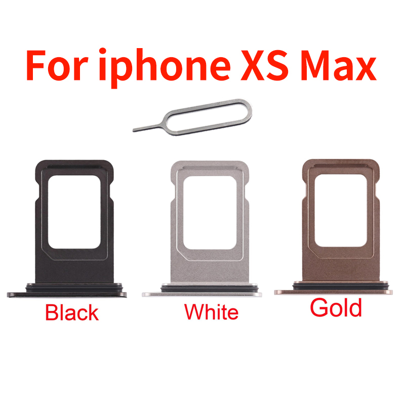 For Iphone XS Max SIM Card Holder Slot Tray Container Adapter Eject Tools Mobile Phone Accessories