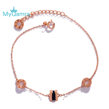 New Fashion Design Geometric Ring Bracelets For Women Hand Chain Jewelry Gift