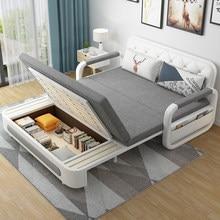 Cama multi função dobrável 1.2 / 1.5m sala de estar pequena família telescópica dupla uso armazenamento sofá