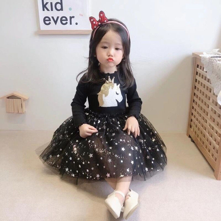 2020 Baby Girl Fashion Clothing Set Cute  Dress girls Infant Elegant Clothes Sets Children Party Birthday Wear 9