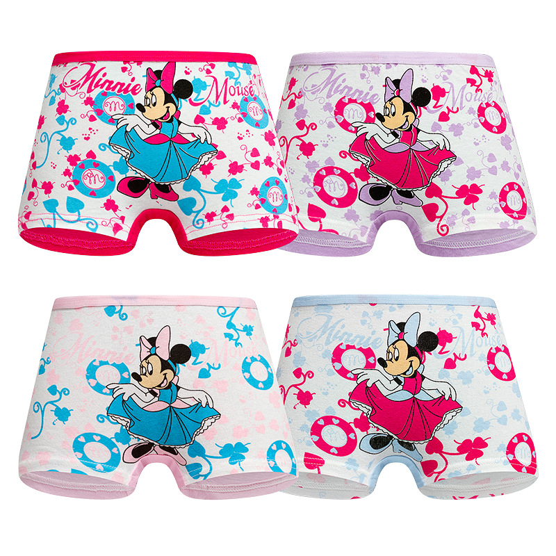 4Pcs/lot New Baby Girls Underwear Cotton Panties For Girls Kids Short Briefs Infant Toddler Baby Underpants