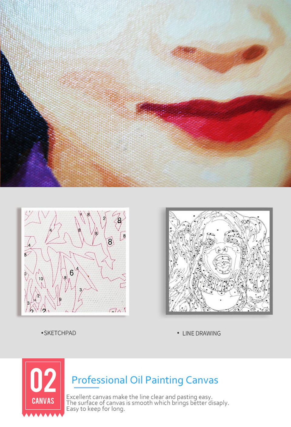 Hd9d46ee57f204a21bc51bfe271e2eba0H Personality Photo Customized DIY Oil Paint Paintings By Numbers Picture Drawing by Numbers Canvas Coloring by Numbers Acrylic