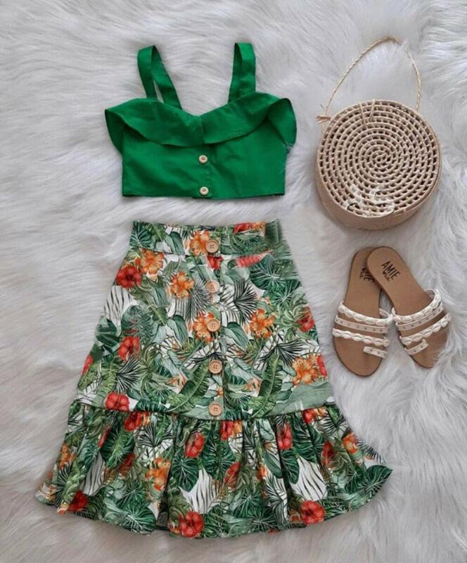 US Kid Baby Girl Summer Sleeveless Vest Ruffle Tops+Bowknot Shorts&Dress Clothes