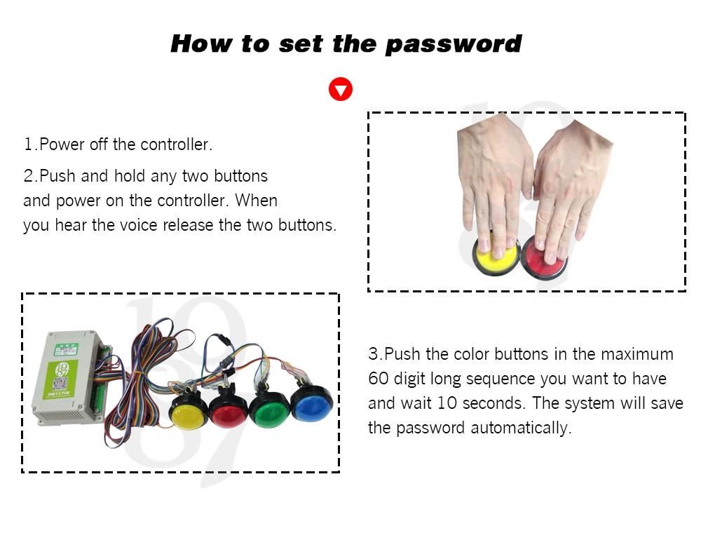 prop pressione quatro botões de cor mágica