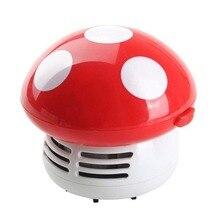 Portable Cute Mini Mushroom Corner Desk Table Dust Vacuum Cleaner Sweeper--