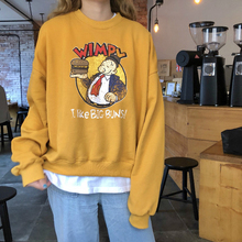 Autumn Winter Sweatshirt Ulzzang Harajuku Vintage Funny Fleece Pullover Hoodies Women Long Sleeve