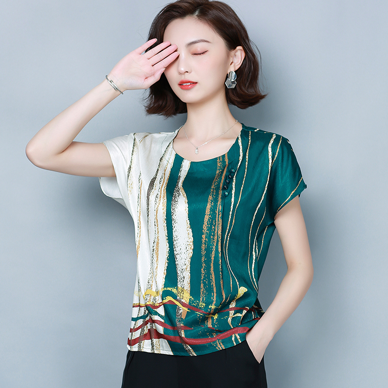 Korean Chiffon Blouses Women Striped Blouse Tops S