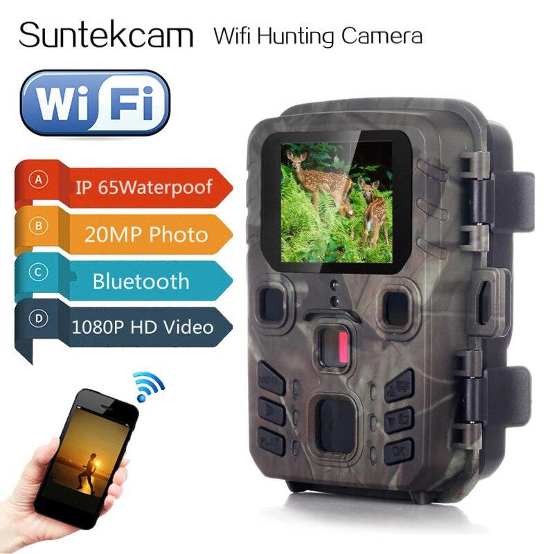 Охотничьи камеры Wi-Fi с управлением через приложение, беспроводные фотоловушки Wifi301 20 МП 1080P с ночным видением для дикой природы, запись