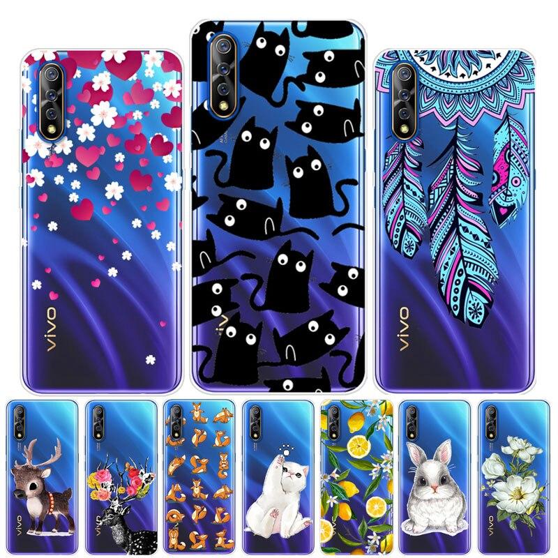 For Vivo V17 Neo Case Cute Animal Soft TPU Clear Back Cover For Vivo V17 Neo V 17 V17neo Cases Iqoo Neo Z5 Y7S S1 Silicon Bumper